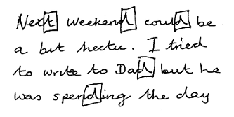 Handwriting sample showing stubbornness in the writer.